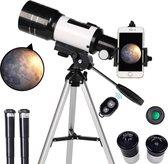 EFLO® Refractor Telescoop - Sterrenkijker met Microscoop - Inclusief Smartphone Adapter en Draadloze Bediening - 70-300X