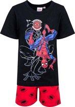 Spiderman Marvel Short Pyjama. Kleur Zwart-rood. Maat 98-104 cm / 3-4 jaar.