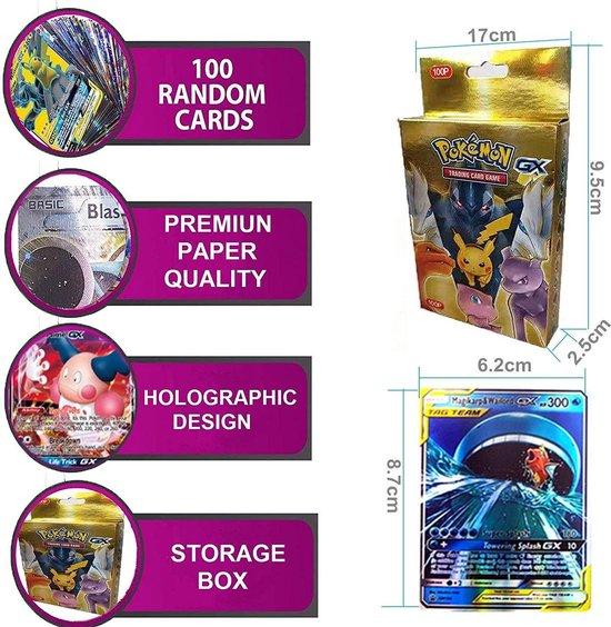 Thumbnail van een extra afbeelding van het spel SunAurora 100 Stuks Pokemon-kaarten, Pokemon-Ruilkaarten Set, Pokemon GX Kaarten,Beste Cadeau voor Kinderen