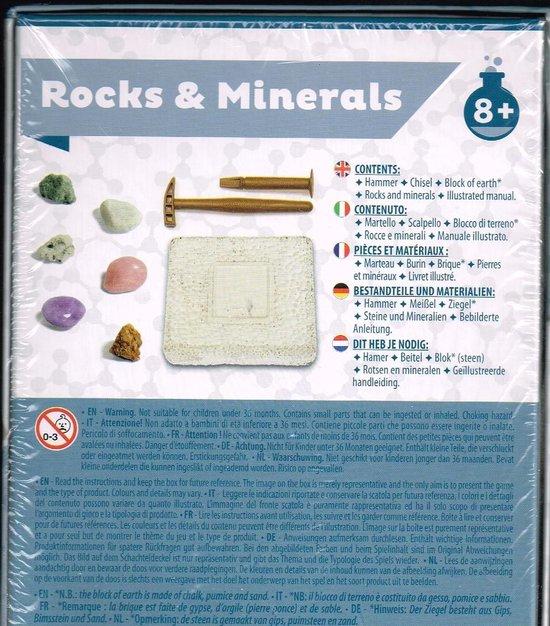 Afbeelding van het spel stenen en mineralen kit/ vanaf 8 jaar/ rocks & minerals/
