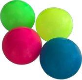 Sticky Balls - Glow in the Dark - Globbles - Mixed - 4 stuks