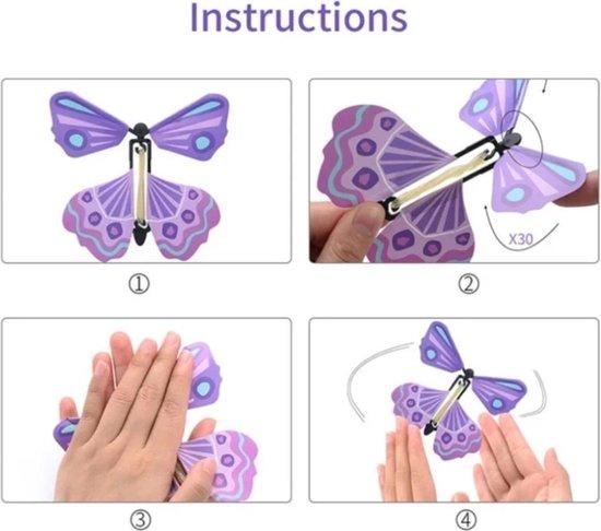opdraaiende vlinder , vliegende vlinder paars, kindercrea
