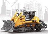 Bulldozer Liebherr Geel - Technisch Bouwpakket - Creator - Machine - Toy Brick Lighting - 703 bouwstenen