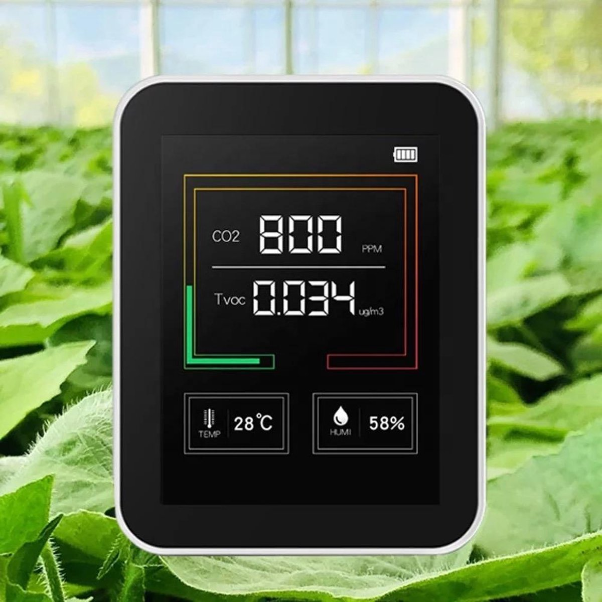 CO2 Meter - co2 meter binnen - AirQua Pro co2 melder - luchtkwaliteitsmeters - co2 - Temperatuurmete