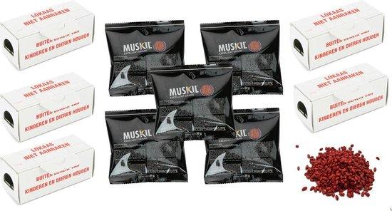 Muskil Muizengif 250 gram + gratis 5 kartonnen lokaasdoos
