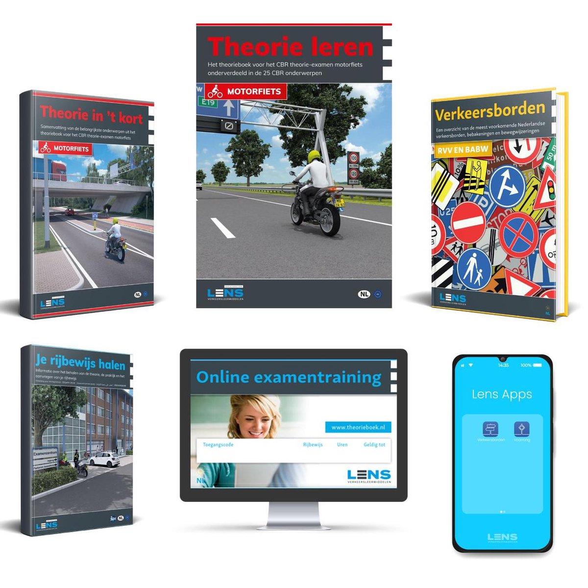 MotorTheorieboek 2021 - Rijbewijs A - Inclusief 10 uur Online, Samenvatting, Apps, CBR Rijbewijs Hal