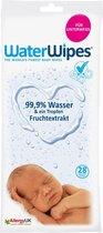 WaterWipes Vochtige doekjes voor pasgeborenen - 99,9% water en een druppel fruitextract - 28 st