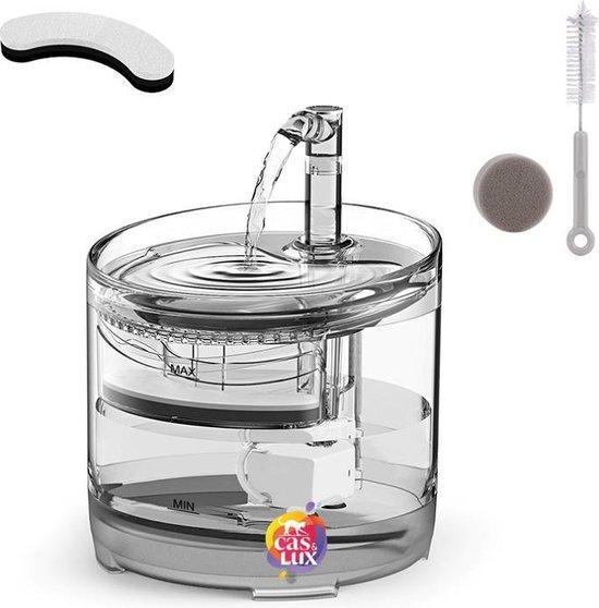 Cas & Lux Stijlvolle Drinkfontein voor Katten - Drinkfontein - inclusief 2x Filters en schoonmaak Kit - 1.5L - Waterfontein