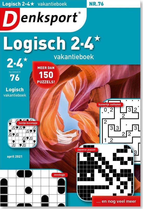 Afbeelding van Denksport puzzelboek Logisch 2-4* vakantieboek editie 76