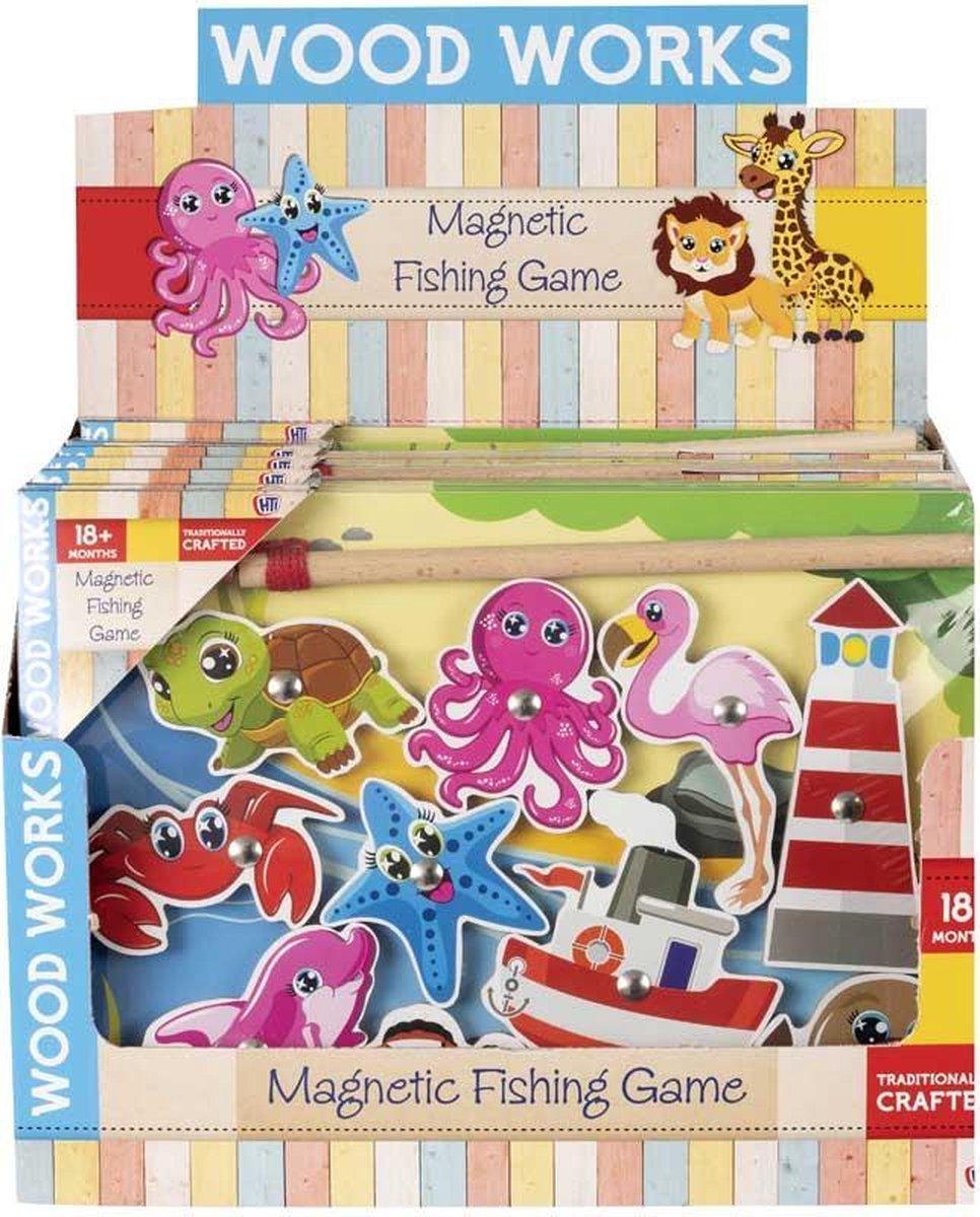 Houten Visspel - Magnetische Visspuzzels met Getallen - Educatief speelgoed - Legpuzzel