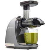 KitchenBrothers Slowjuicer - Verse Fruit Smoothies en Groente Sapjes - BPA Vrij - Persschroef - Droge Pulp - 700 ml - 150W - Antraciet