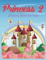 Princess 2 Coloring Book For Kids