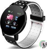 Ynona® Sports Products Smartwatch  Oem 119 Plus - Horloge - Dames & Heren - Sporthorloge - 5 Kleuren - Bluetooth - Grijs