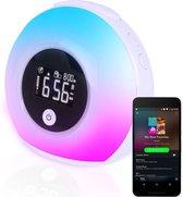 Wake up light - Speaker radio - Slaaphulpen - Bluetooth - Nachtlampje - Digitale wekker - Wekker - Ambilight - Radio's