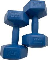 Bol.com-2x Dumbbell - 8 kg - Dumbbell Set - Blauw-aanbieding