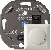 Lybardo ITEC 3-175W LED Dimmer - Fase Afsnijding - Universeel - Compleet met afdekraam - Inbouw