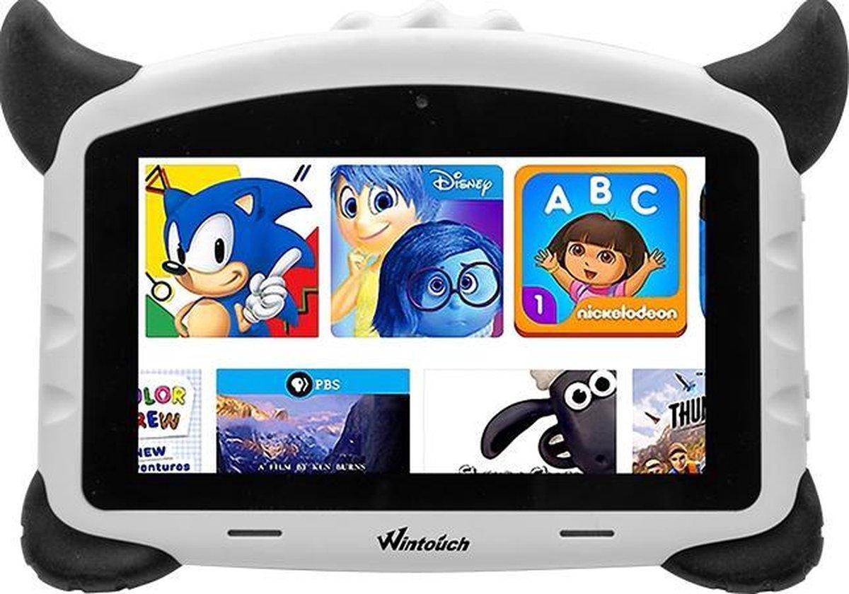 Kindertablet pro Wit - kidstablet - Disney+ Netflix - Tablet 7 inch - 32GB - 8.1 android - vanaf 2 jaar - Scherp hd beeld - leerzame tablet voor kinderen - Wifi - Bluetooth - voor-achter camera - Play store - uitstekende batterij - 1 jaar garantie