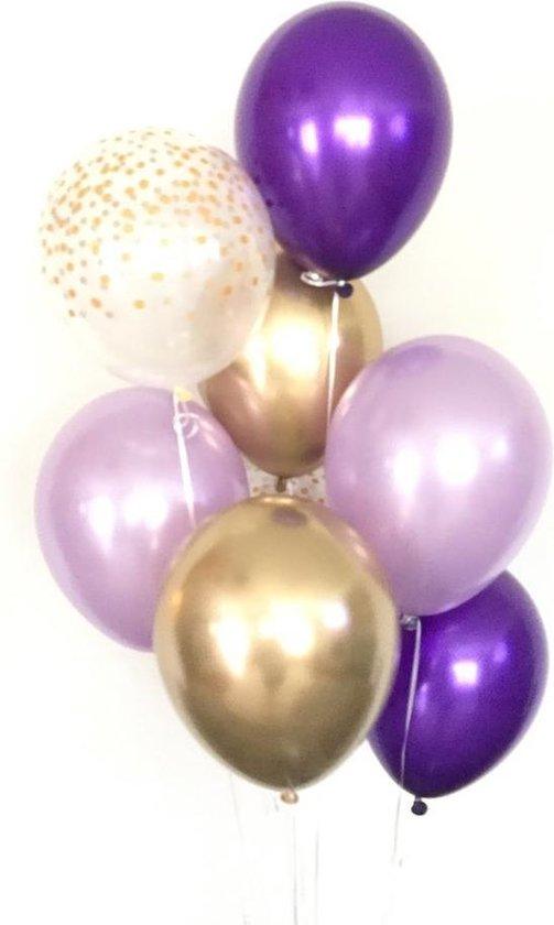 Ballonnen Huwelijk / Bruiloft - Geboorte - Verjaardag ballonnen | Goud - Paars - Lila /Mauve - Transparant - Polkadot Dots | Baby Shower - Kraamfeest - Fotoshoot - Wedding - Birthday - Feest - Huwelijk | Decoratie | DH collection