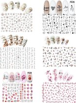 GUAPÀ - Nail Art 3D Nagel Stickers Set - Nagel Decoratie & Versiering Folie - 6 Sticker Vellen