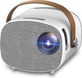 Mini Beamer Full HD 1080P - Smartphone Functie - Beamer Projector - Wifi Functie - Beamer scherm - Films - Games - Screen Mirror - Ingebouwde Speaker - Beamer voor onderweg - Projector - HDMI - Afstandbediening - Micro USB cable - Projectiescherm