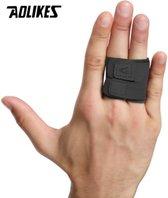 Kosta/Aolikes - Brace voor gebroken vingers   Spalk voor pijnlijke vinger   L   Vinger beschermer   Extra ondersteuning tijdens sporten   Heren/dames   Unisex   Sport   Zwart