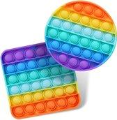 Pop It Fidget Unieke Set: Regenboog Rond & Vie