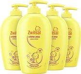 Zwitsal Baby Crème Zeep Pompje - 4 x 250 ml - Voordeelverpakking