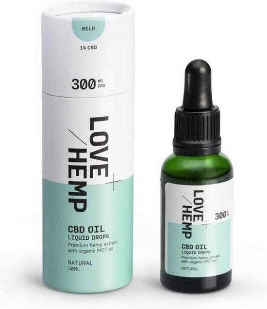 Love Hemp CBD olie 30ml - 300mg (1%) CBD