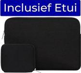 Laptop Sleeve 14 inch + Etui (Laptophoes) zwart van ZEDAR®