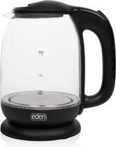 Eden ED-7004 Glazen waterkoker - 1.7L - Zwart - Led verlichting