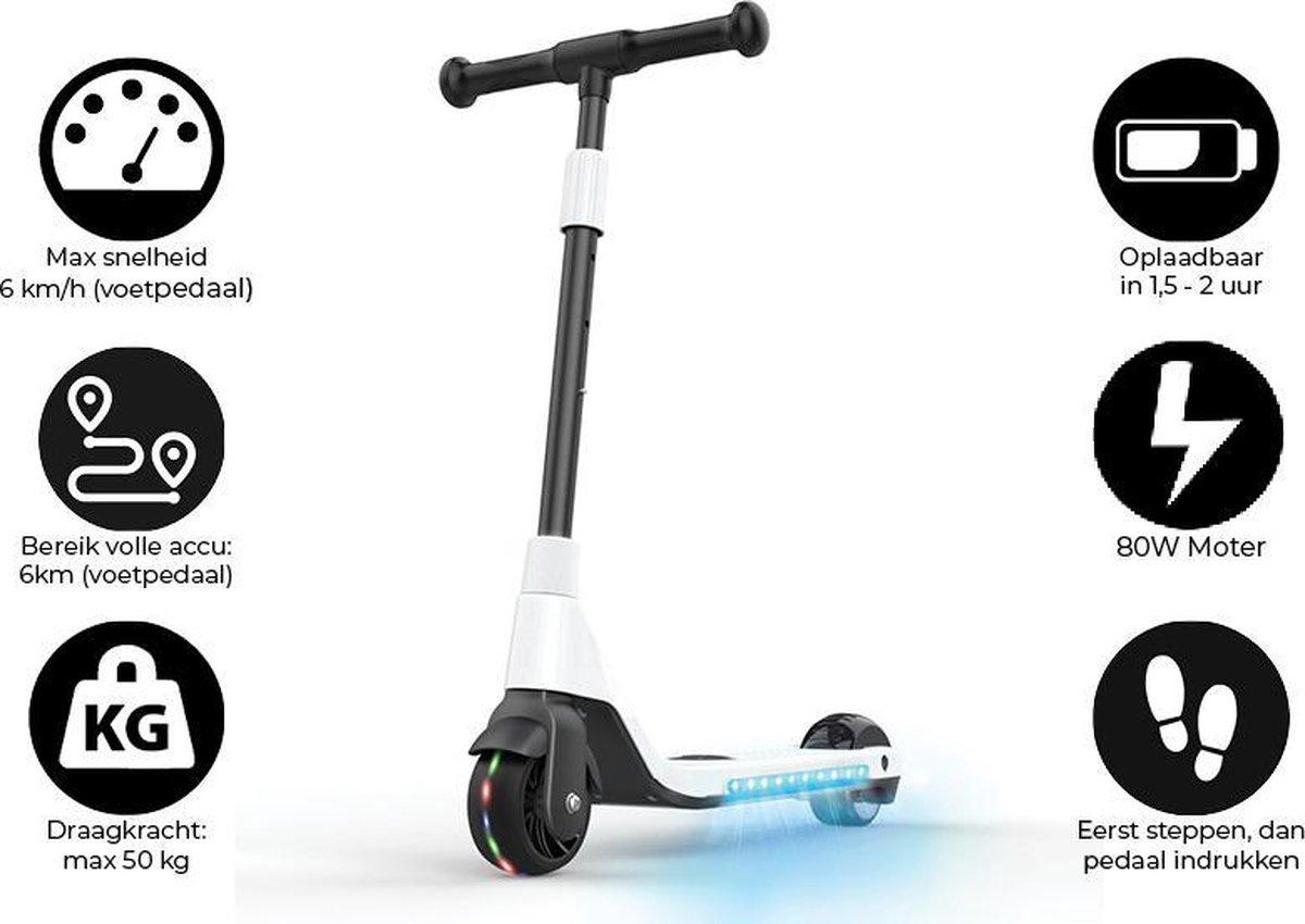 """Denver SCK-5400WHITE / Elektrische step / 4.5"""" wielen / Max snelheid 6 km / Met coole LED verlichting / Wit"""