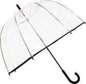 Smati Big Cloche Paraplu - Transparant - Stormbestendig - Zwart - Ø81cm