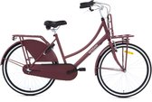 Nogan Vintage N3 Transportfiets - Meisjesfiets - 26 inch - 3 versnellingen - Mat Rood