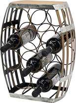Industrieel wijnrek metaal