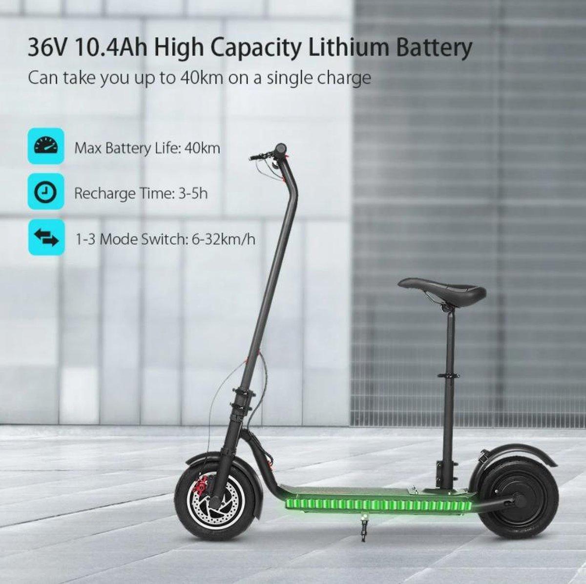 elektrische step vouwbaar 32 km/u max. snelheid 36km Bereik 40 km Maximale Belasting 120kg Zwart
