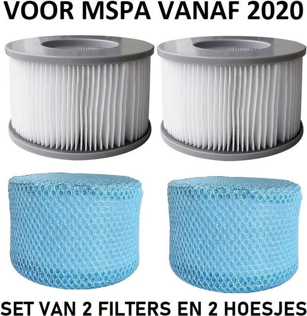 Mspa filter origineel 2 stuks model vanaf 2020 met filterhoesje