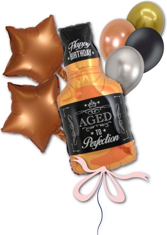 Helium Folie Ballon Whiskey Fles  voor Verjaardag of Abraham 50 jaar  Geschikt voor Helium