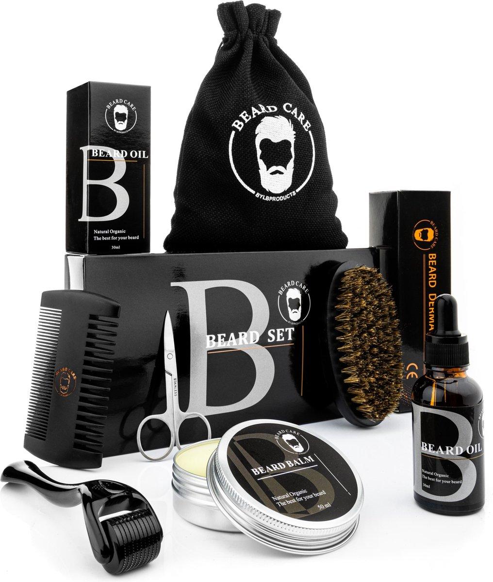 LB Products - Baardverzorging set - Baard roller - Zwart - Baardolie - Baard balsem - 50 gr