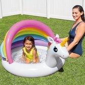 Intex zwembad kinderen 1 t/m 3 jaar - comfortabele bodem - 127 x 102cm - pvc - unicorn
