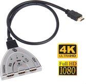 Sonnon HDMI Splitter - HDMI Switch - HDMI-splitter - Metallic - 3 ingangen