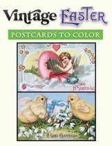 Vintage Easter Post cards to color
