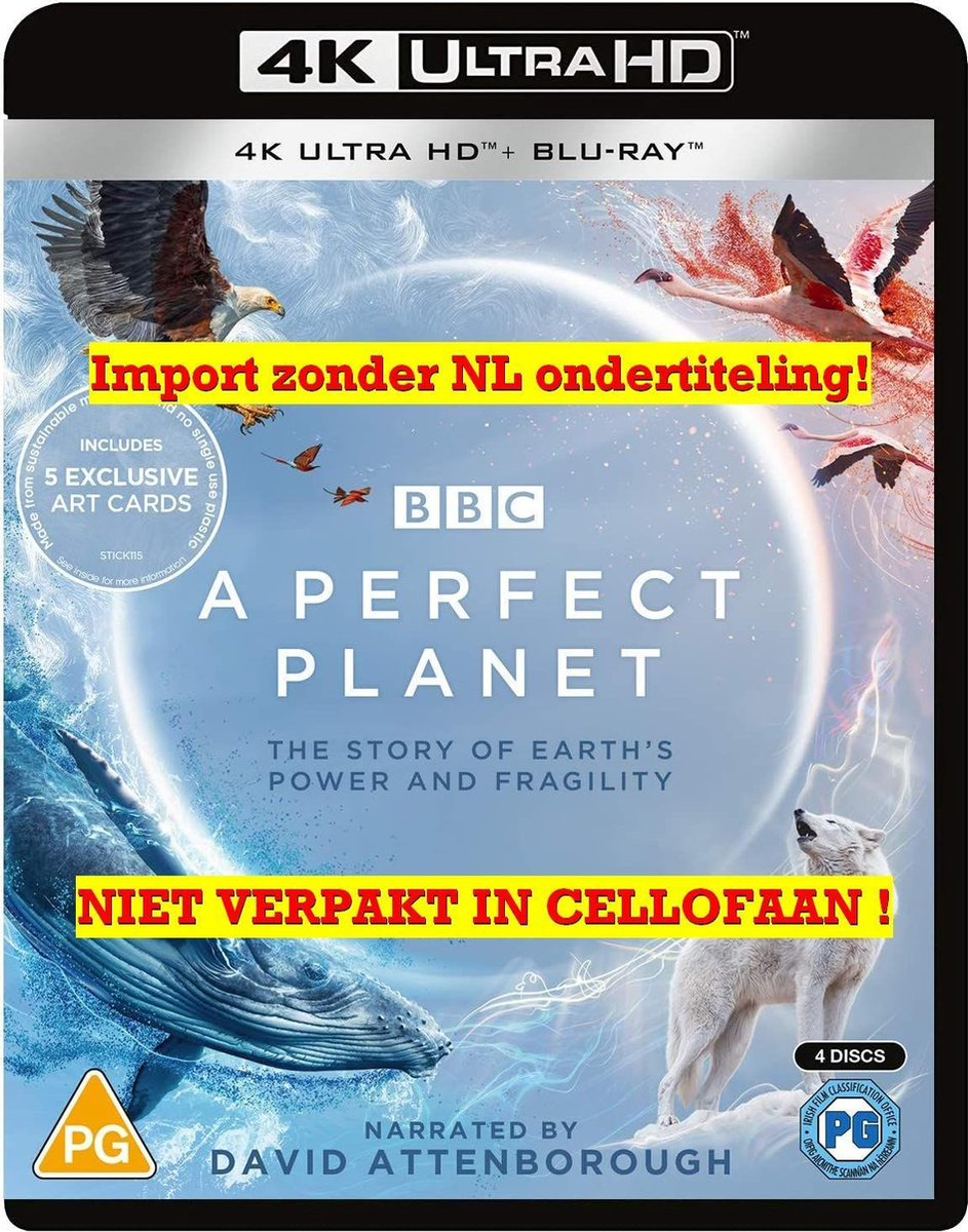 A Perfect Planet (Includes 5 Exclusive Art Cards) [4K Ultra HD + Blu-ray] [2021]-