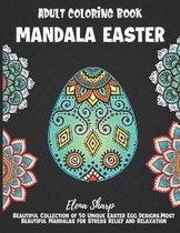 Mandala Easter Adult Coloring Book