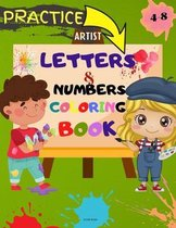 Letters and Numbers Coloring Book
