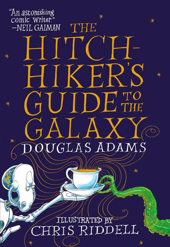 CD cover van The Hitchhikers Guide to the Galaxy van Douglas Adams