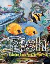 Fish Coloring Book For Kids Ages 4-8