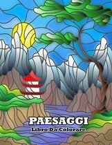 libro da colorare paesaggi: Luoghi Magici - Libro da colorare per adulti