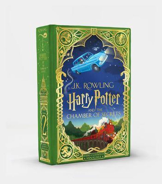 Boek cover Harry Potter and the Chamber of Secrets (Minalima Edition), Volume 2 van J.K. Rowling (Hardcover)
