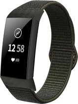 Fitbit Charge 4 nylon band - groen-grijs