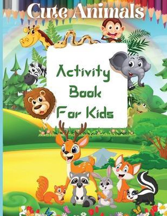 Cute Animals Activity Book For Kids